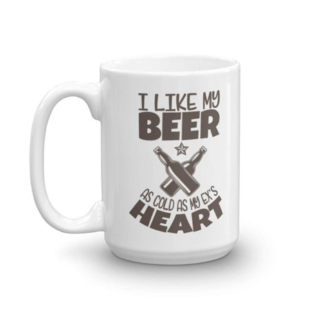 I Like My Beer As Cold As My Ex's Heart Funny Drinker's Prayer With Graphic Bottles Coffee & Tea Gift Mug, Accessories, Party Decorations & Beer Lovers Themed Gifts For Drinker Men & Women (15oz)](Beer Themed Decorations)