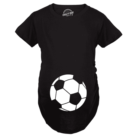 Maternity Soccer Ball Pregnancy Tshirt Cute Soccer Mom Sports Tee For Mom To Be - Soccer Mom Emoji