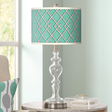 Giclee Glow Crossings Giclee Apothecary Clear Glass Table Lamp
