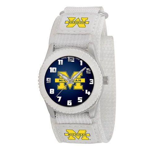 Game Time NCAA Michigan Rookie Series Watch in White