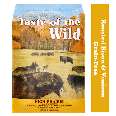 Taste of the Wild Grain-Free Roasted Bison & Roasted Venison High Prairie Dry Dog Food, 28 lb