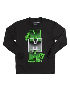 Minecraft Graphic Long Sleeve T-Shirt (Little Boys & Big Boys)