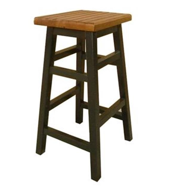Carolina 1230-ABAO Ant. Black 30 in. Colby Stave Bar Stool