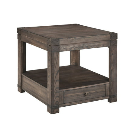 Signature Design by Ashley Burladen Rectangular End Table Country Rectangular End Table