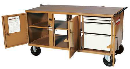 Knaack Jobsite Mobile Workbench, Steel, Tan, 62 by KNAACK
