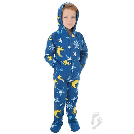 d05d072a0 Footed Pajamas - Footed Pajamas - Starry Night Infant Hoodie Cotton Onesie  - Walmart.com