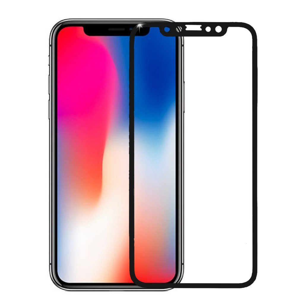 Apple iphone xs max silicone case black curved edges