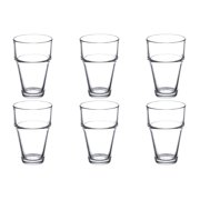 6 Anchor Hocking Stackable Beverage Cocktail  Glasses Set Lot 9.25oz 42440 Bulk