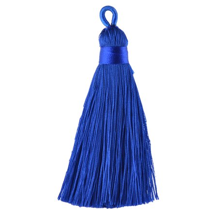 Home Festival Polyester DIY Handicraft Chinese Knot Ornament Tassel Royal Blue