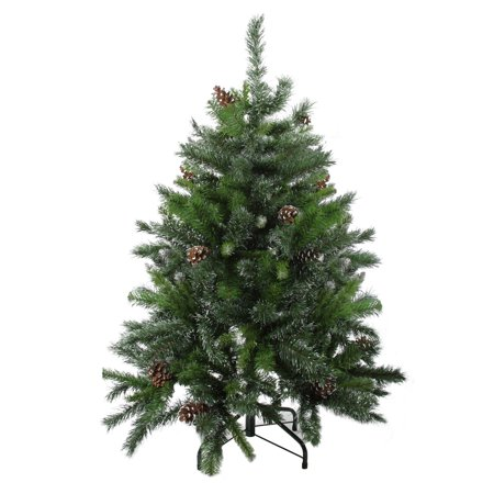 Northlight 4 ft. Snowy Delta Pine with Pine Cones Unlit Tabletop Christmas Tree