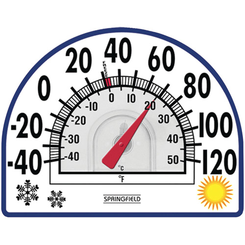 Springfield 4-Season Window Cling Thermometer