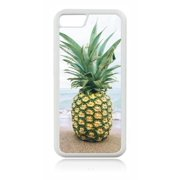 Tropical Pineapple on the Ocean Beach White Rubber Case for the Apple iPhone 6 Plus / iPhone 6s Plus - Apple iPhone 6 Plus Accessories -iPhone 6s Plus Accessories