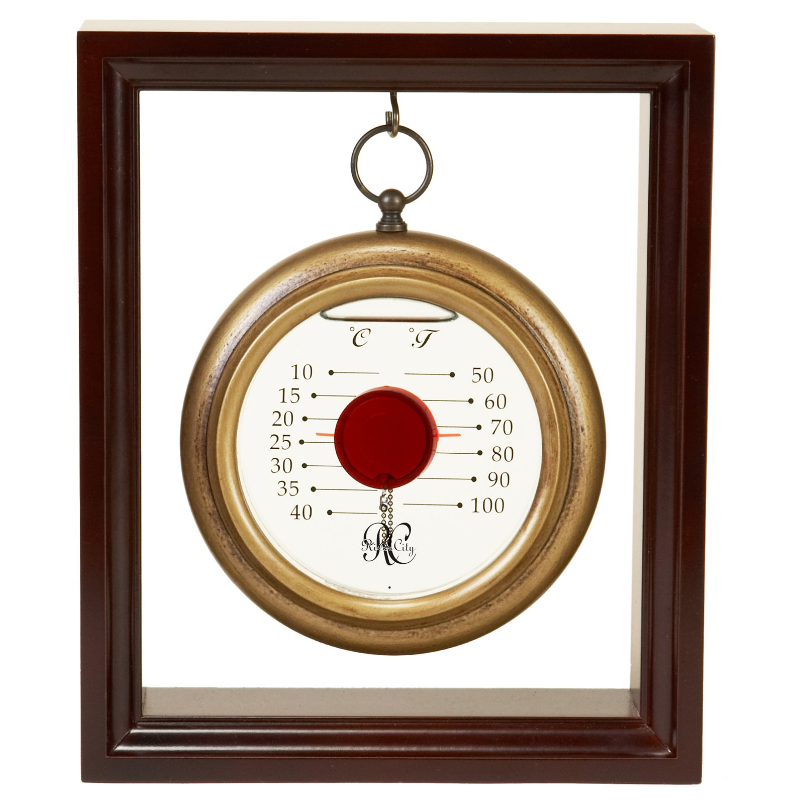 River City Clocks Hanging Galileo Thermometer