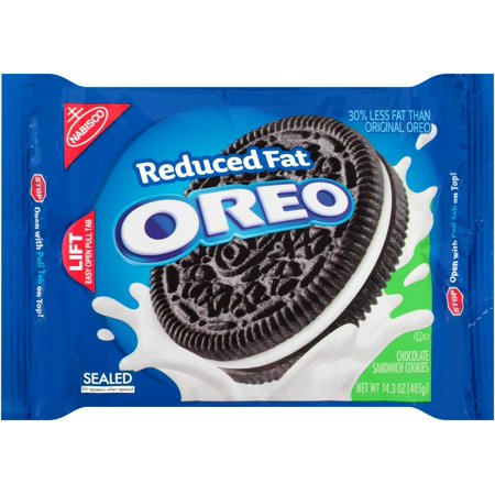 Oreo Chocolate Sandwich Cookies  Reduced Fat  14 3 Oz