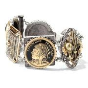 Sweet Romance  Vintage French Cameo Antique Statement Bracelet