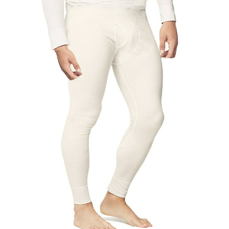 Mens Thermal Pants Long John Underwear Waffle Knit Cotton