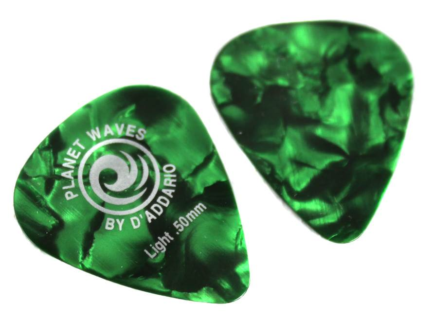 Extra Heavy Planet Waves Green Pearl Celluloid Guitar Picks Pack of 100