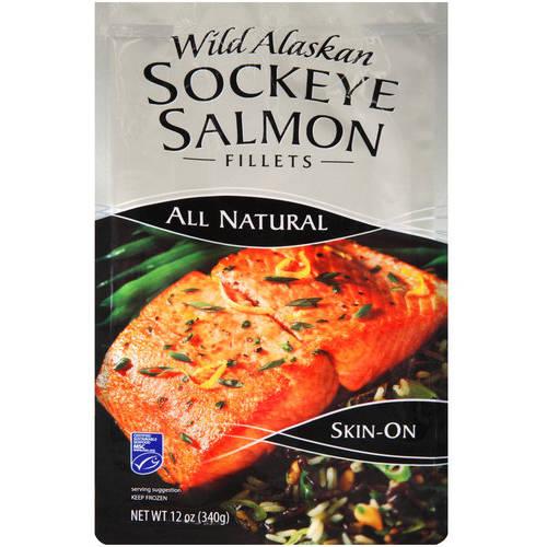 Wild Alaskan Sockeye Salmon Fillets, 12 oz