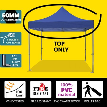 Party Tents Direct 10x10 50mm Speedy Pop Up Instant Canopy Event Tent Top ONLY, Blue