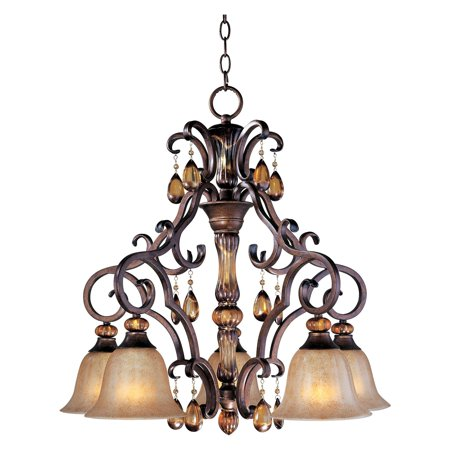 Maxim 22264EMFL Dresden Down Light Chandelier - 27W in. Filbert