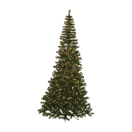 7 5 Ft Green Corner Pre Lit Christmas Tree