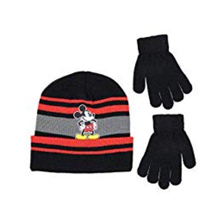 Disney Mickey Mouse Boys Beanie Winter Hat Glove Set