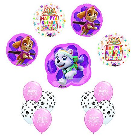 PAW PATROL SKYE EVEREST Birthday Balloons Decoration Party Supplies 13 Pc