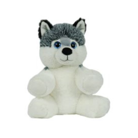 Huskey Dog (Make Your Own Stuffed Animal Mini 8 Inch Husky Dog Kit - No Sewing)
