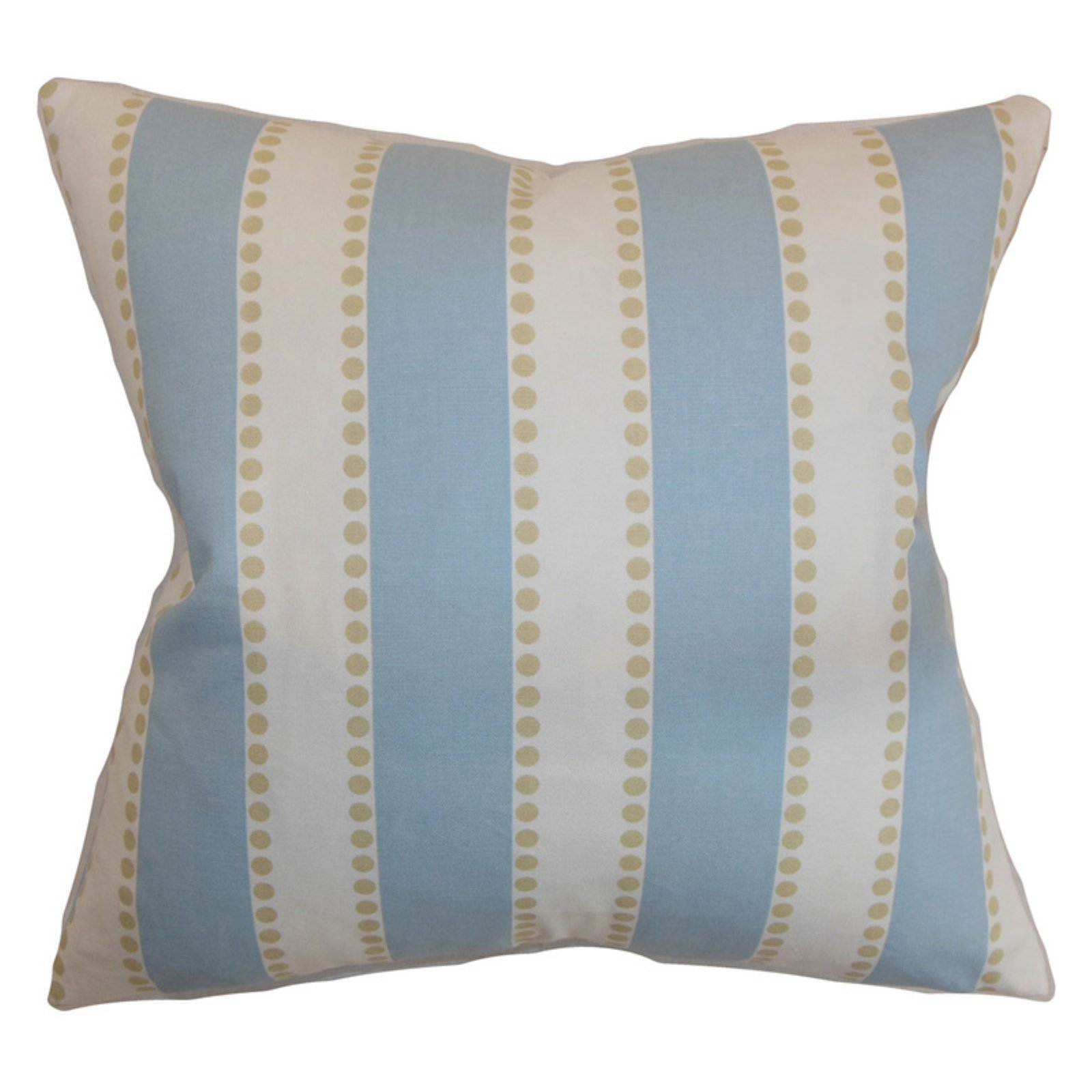 The Pillow Collection Odienne Stripes Pillow - Putty