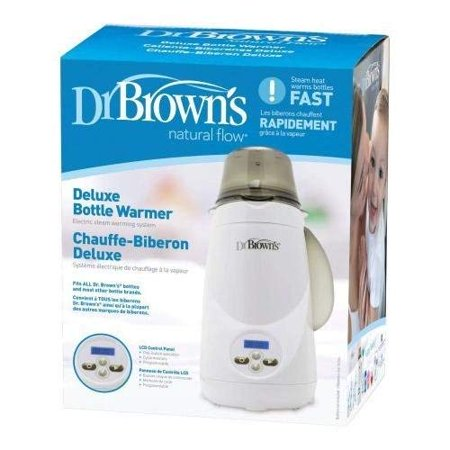 Dr. Brown's Deluxe Bottle Warmer | 1-Button Start | LCD Control Panel (Bottle (Dr Browns Natural Flow Deluxe Bottle Warmer)
