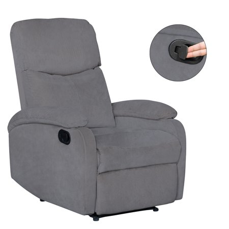 High Back Recliner (Windaze Recliner Chair High Back Living Room Single Fabric Comfortable Sofa Home Theater Seating)