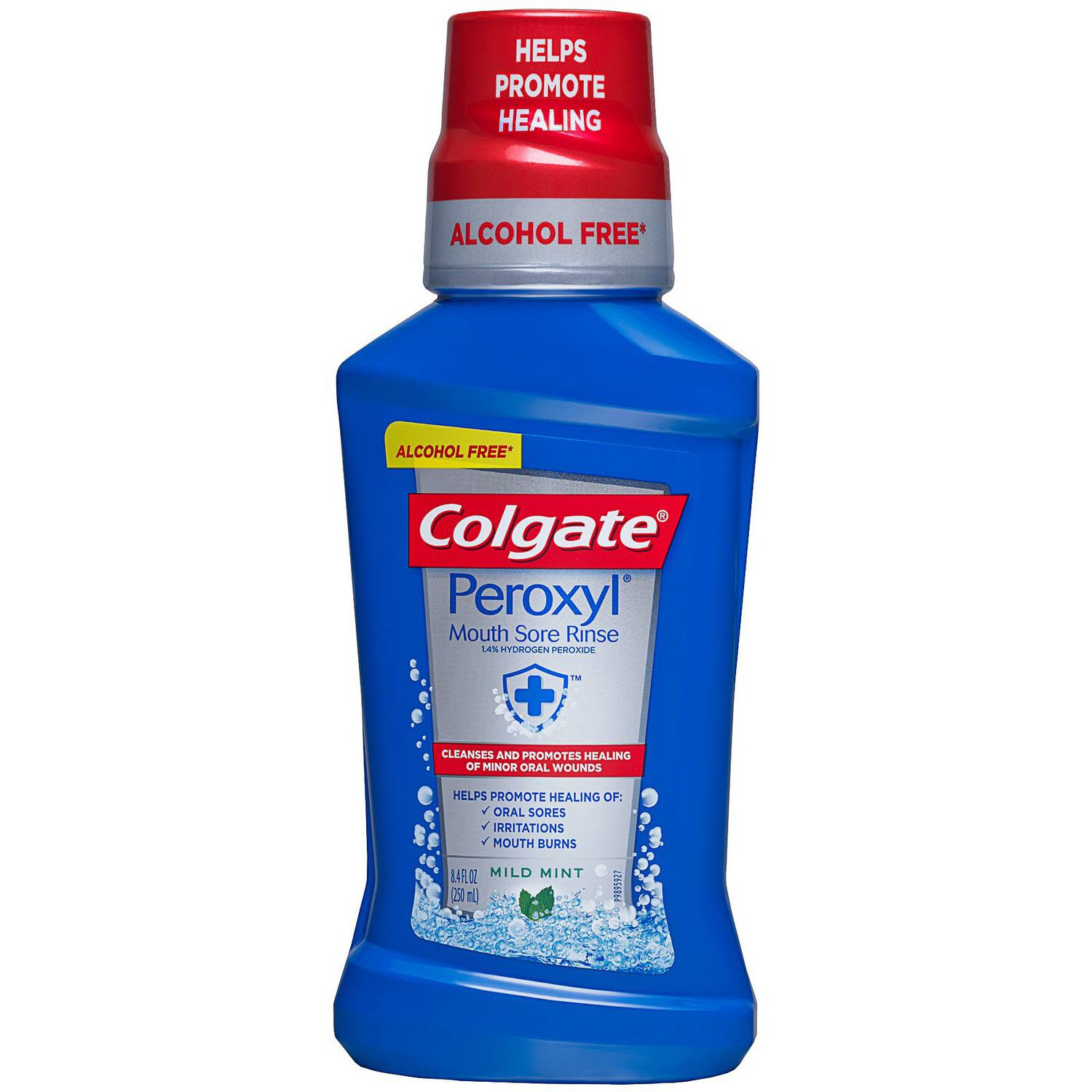 Colgate Peroxide Antiseptic Mild Mint Oral Cleanser & Rinse, 8 oz