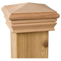 DECKORATORS 72890 NEWPORT HIGH PYRAMID CEDAR POST (Ornamental Post Caps)
