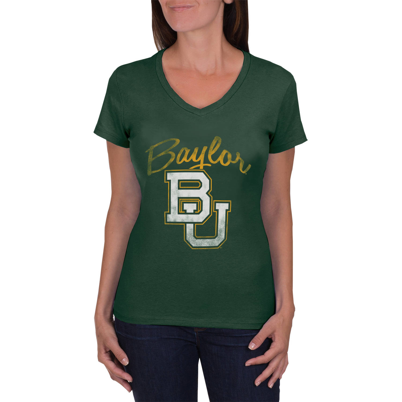 NCAA Baylor Bears Women's V-Neck Tunic Cotton Tee Shirt