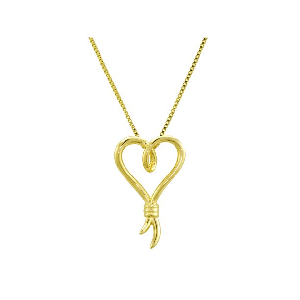 Knots of Love 14kt Yellow Gold over Sterling Silver Pendant, 18