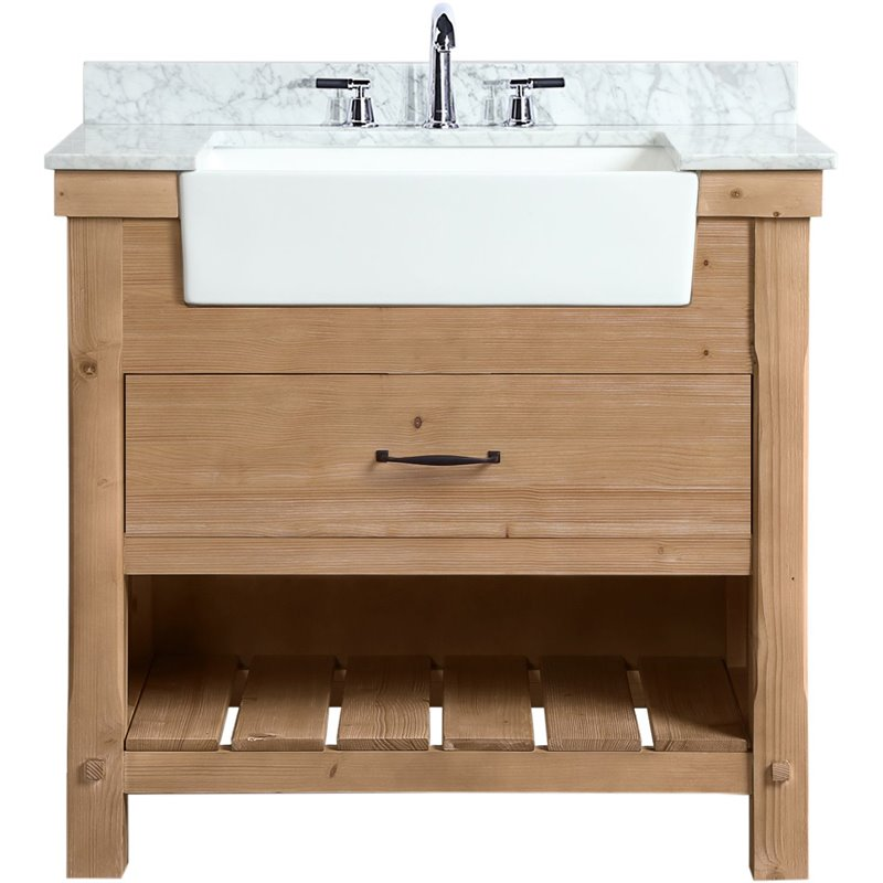Ari Kitchen Bath Marina Farmhouse 36, All Wood Bathroom Vanities