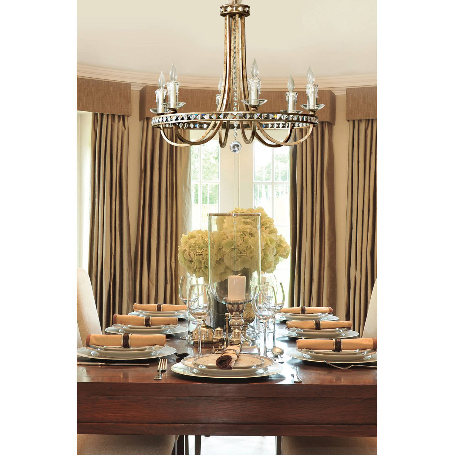 AF Lighting Aristocrat 8-Light Chandelier