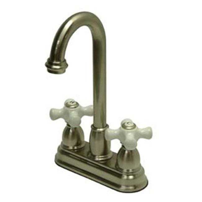 4 Inch Center Bar Faucet - Satin Nickel