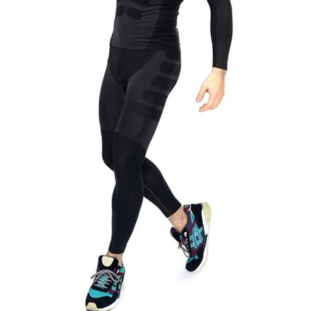 EFINNY Men's Athletic Compression Running Training Base Layers Skin Sports Quick-dry Tights Pants