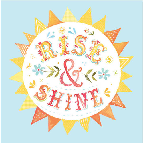 Oopsy Daisy Too's Rise and Shine Canvas Wall Art Size 21x21