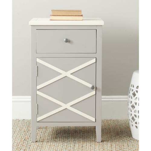 Safavieh Alan Grey  White End Table by Overstock