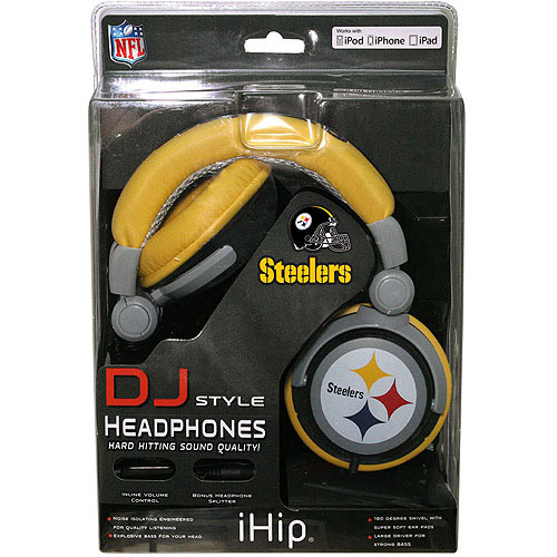 HP NFL Pittsburgh Steelers Team Logo DJ Headphone