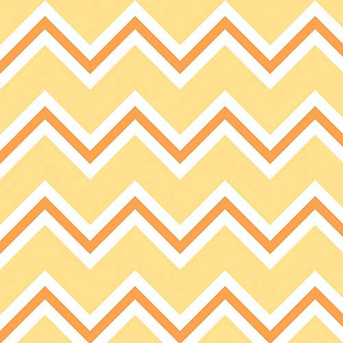 "Chevron Jungle Yellow Chevron, Flannel, Multi-Color, 42/43"" Wide, Fabric by the Yard"