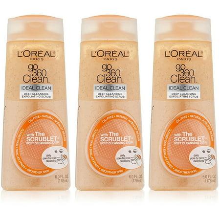 L'Oreal Paris Paris Go 360 Clean Deep Exfoliating Scrub with Scrublet Soft Cleansing Disk, 6.0 Fl