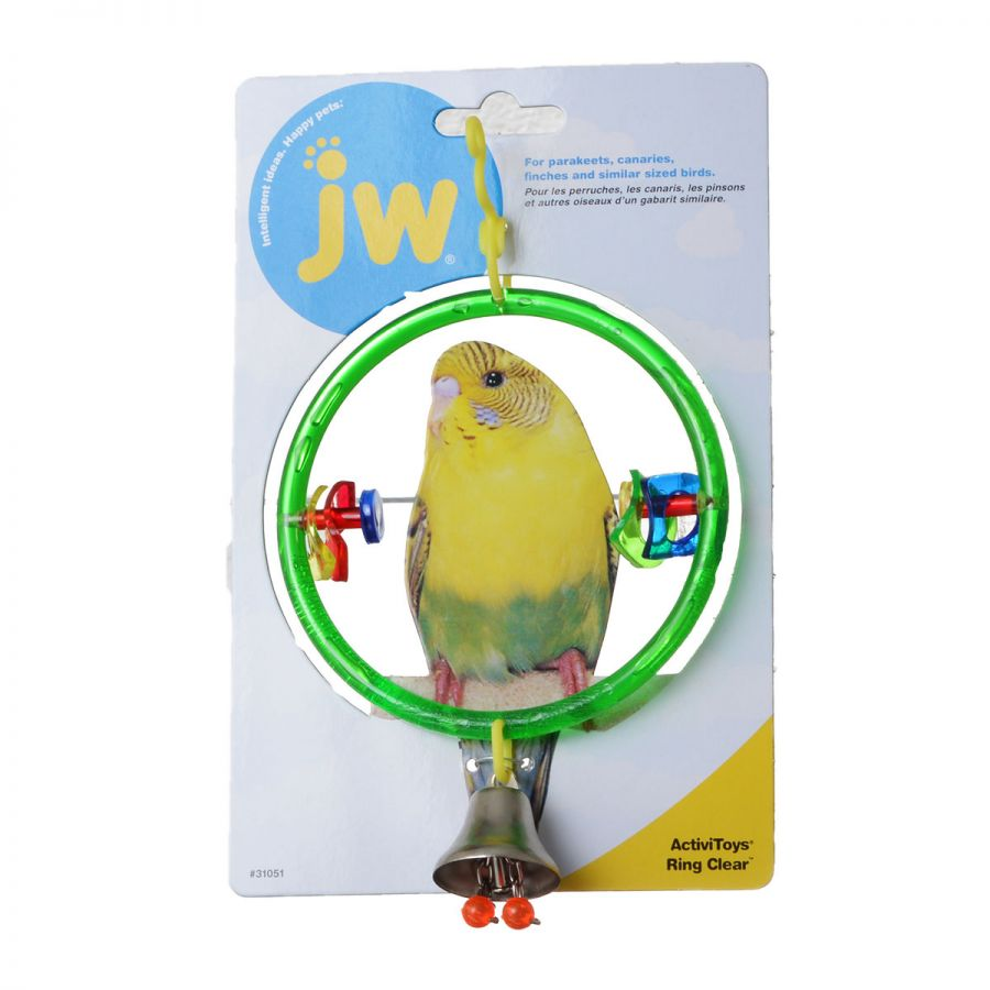 JW Insight Clear Ring Bird Perch Clear Ring Bird Perch - Pack of 2