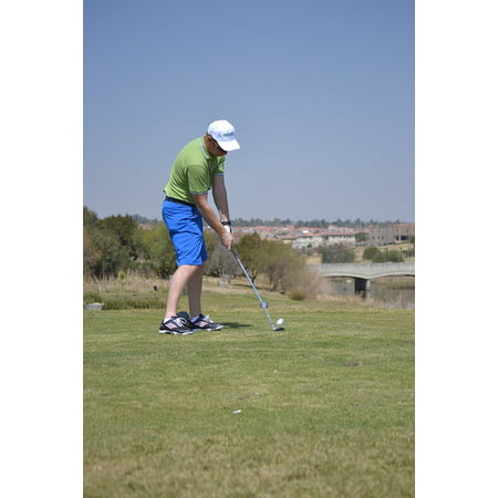 Canvas Print Swing Golf Drive Sport Motion Stretched Canvas 10 x (Best Camera For Slow Motion Golf Swing)