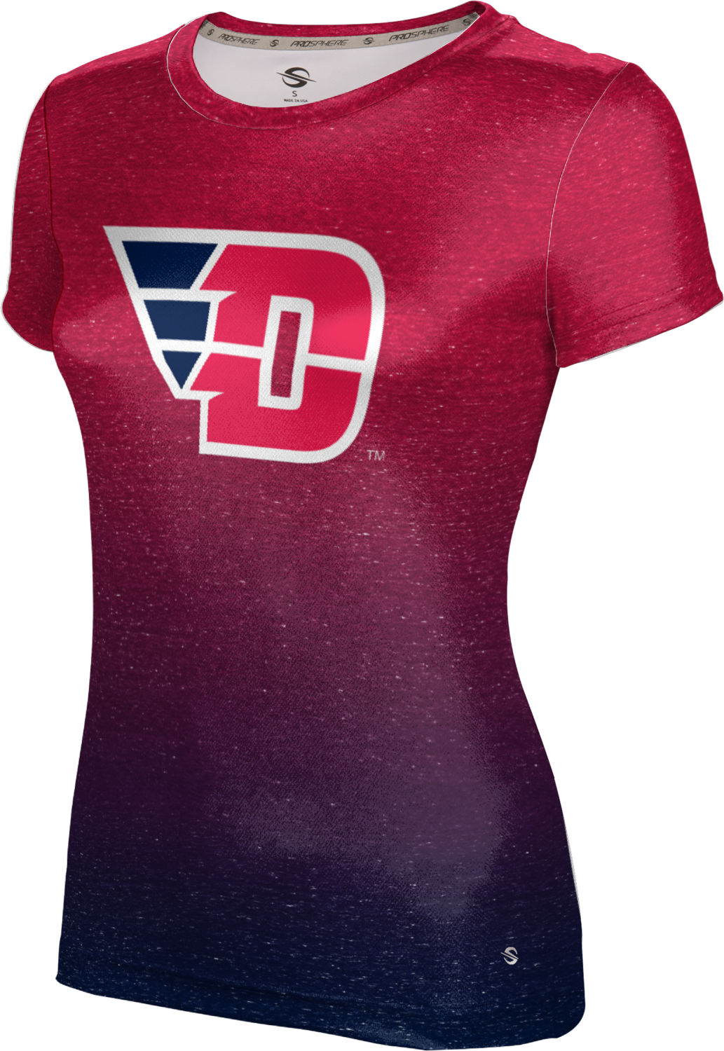 ProSphere Girls' University of Dayton Ombre Tech Tee
