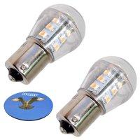 HQRP 2-Pack Headlight LED Bulb for John Deere 5200 5300 5400 5500 D100 D105 D110 D120 D125 D130 D140 D150 D155 D160 D170 GT225 GT235 GX255 GX325 GX335 Tractor + HQRP Coaster