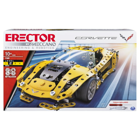 Erector by Meccano, Chevrolet Corvette Model STEM Building Kit, for Ages 10 and Up](Wood Building Kits)