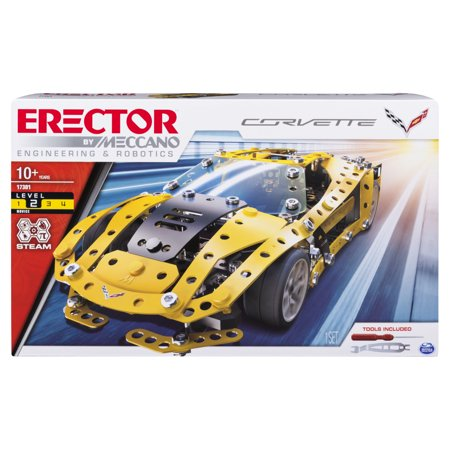 Erector by Meccano, Chevrolet Corvette Model STEM Building Kit, for Ages 10 and Up](Lightsaber Building Kit)